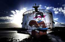 Refurbished Graffiti Landmarks - DuDug Creates 'The Black Duke' Project to Attract More Tourists
