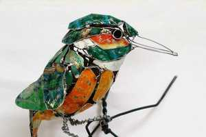 Barbara Franc Creates Metal Birds Made of Discarded Materials