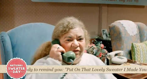 Guilt-Tripping Granny Ads - WWF's Granny Call Centre Ad Encourages People to Put on a Sweater