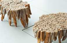 Stale Bread Furniture - The Baguette Tables by Studio Rygalik Raises Awareness of Food Waste