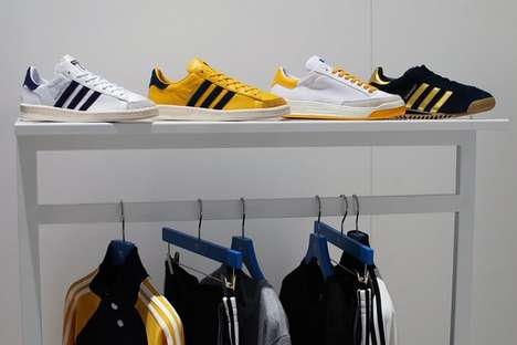 Tricolor Emblazoned Sportswear - The Mark McNairy x Adidas Original Collection is Neon Infused