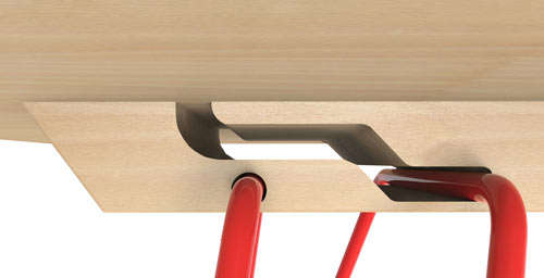 Groove-Framed Foldable Tables