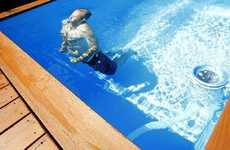 Dumpster Swimming Pools - The Pool by Stefan Beese is Cost-Effective and Easily Portable
