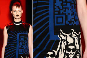 Vivienne Tam Debuted the QR Code Dress in her Fall 2013 Collection