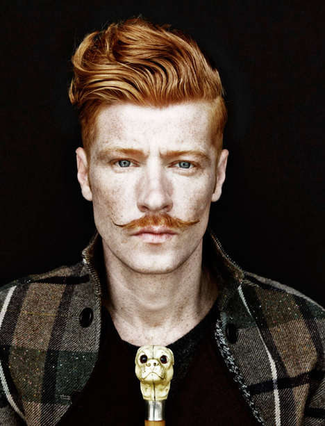 Ginger Gentleman Portraits - The Timeless Man Apollo Novo Editorial Embraces Eccentric Elegance