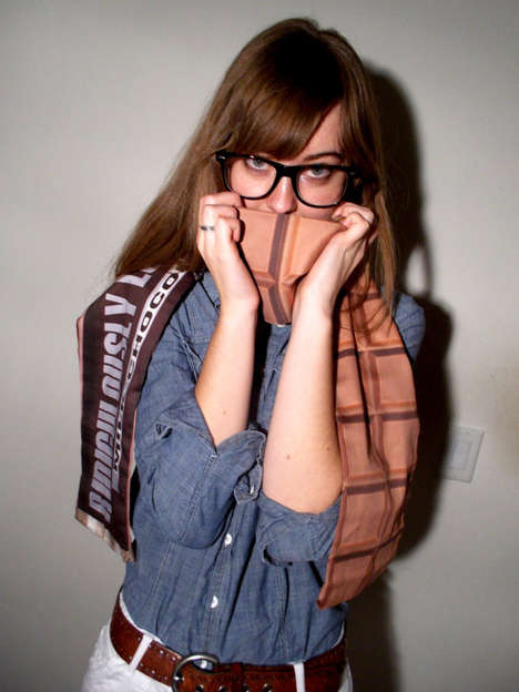 Chocolate Bar Printed Scarf