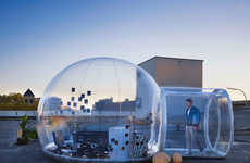 Transparent Bathroom Igloos - The Bubble Bathroom Can be Inflated and Used Anywhere