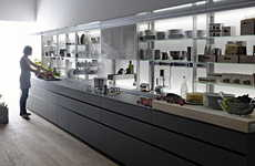 Ultra-Organized Sculleries - The Logica Kitchen by Valcucine Sleekly Stores Everything Away