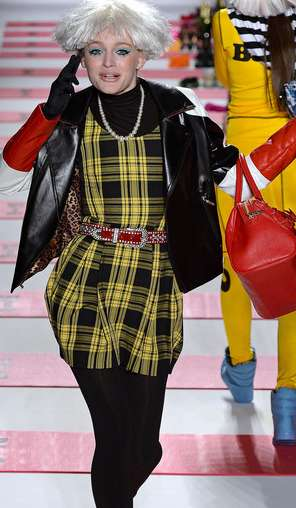 Wacky Wigged Runways - The Betsey Johnson Fall 2013 RTW Collection Centered Around Cell Phones