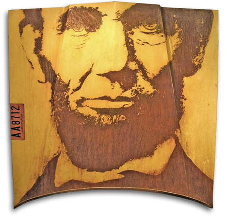 Presidential Portrait Rust Art - Abraham Lincoln