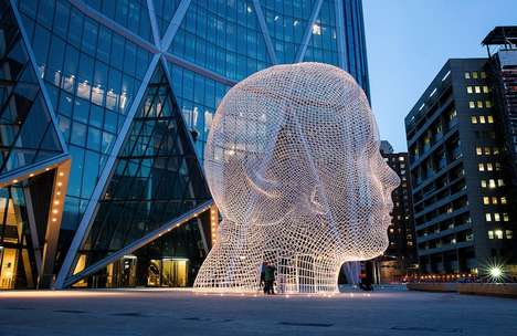 giant head sculpture