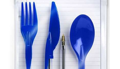 Clever Pen Cap Cutlery - These Pen Cap Utensils Help Streamline On-The-Go Eating