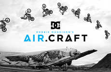 Daredevil Motorcycle Campaigns - Robbie Maddison Performs Soaring Motorcycle Stunts for DC Shoes