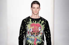 Zombie Punk Menswear - The Jeremy Scott Fall/Winter Collection is Street Chic