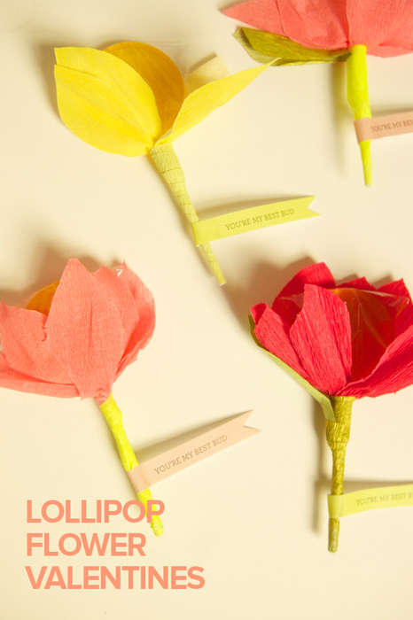 Blooming Valentine's Suckers - These DIY Lollipop Flowers are the Ultimate Last Minute Valentines Gi