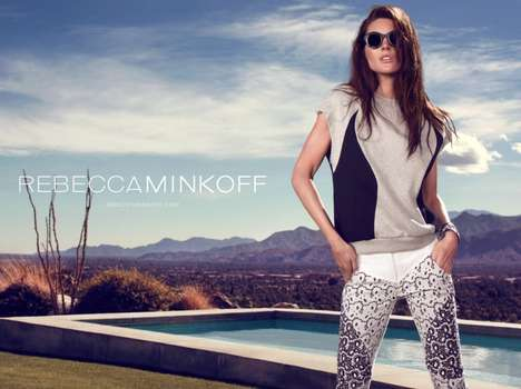Tropical Desert Vacation Campaigns - Rebecca Minkoff Spring Gets You Pining for Warmer Weather