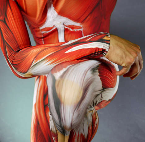 Anatomy-Exposing Cycle Suits - The Muscle Skin Suit is the Ultimate Quirky Cycling Suit