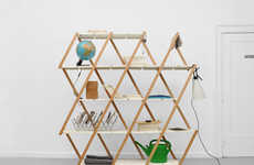 Diagonal Accordion Shelves