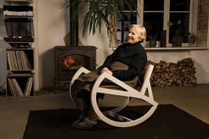 This Stylish Rocking Chair by Ignas Survila Will Keep You Entertained