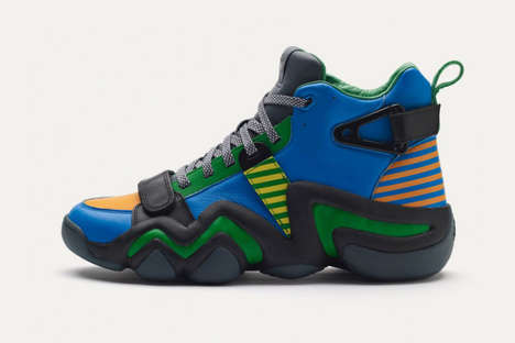 Zig-Zagging High Tops - The adidas Originals Crazy 8 Tennis Shoes are Bold and Bulky