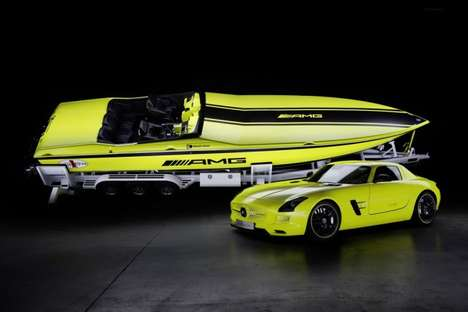 Electric Neon Boats - Mercedes-Benz & Cigarette Racing Debut an Electric Speed Boat
