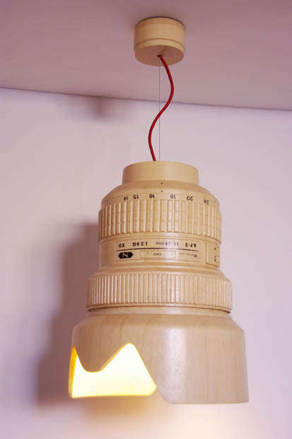 Wooden Hanging Lamp