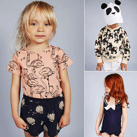 Seafaring Kid Fashion - The Mini Rodini Spring Collection is Aptly Titled Bon Voyage