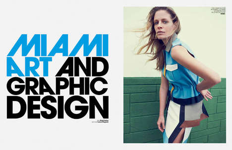 Urban Strutting 80s Editorials - Marie Claire Italia February Takes Inspiration from Miami Vice