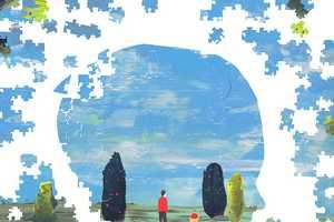 Jon Han Paintings Adopt Minimalist Elements in Abstract Figures