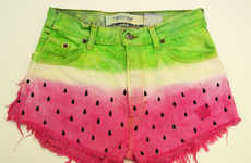 The Watermelon Levi Shorts by Suenos Gitanos are Juicy
