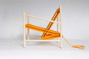 The Loom Chair is Rendered Sittable Thanks to a Woven Cord