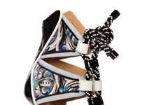 Vibrant Architectural Heels - Nicholas Kirkwood and Peter Pilotto Make a Sumptuous Shoe Collection