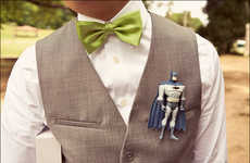 Geeky Superhero Boutonnieres