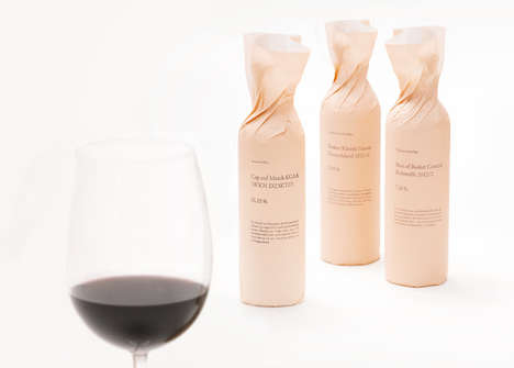 Crisp Paper-Wrapped Packaging - Akzent Invest Wine Packaging is More About the Wrapper Than the Vino