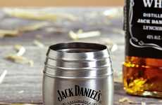 Whiskey Barrel Shot Glasses - The Jack Daniel's Shooters Pay Tribute to the Iconic Whiskey Brand