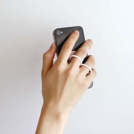 Finger-Gripping Phone Holders