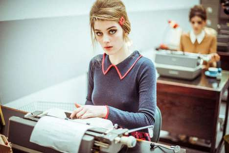 Retro Secretary Catwalks - Orla Kiely AW13 London Fashion Week Show Turns Models into Office-Workers