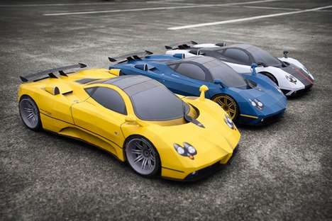 Fancy Paper Vehicles - The Pagani Zonda Paper Cars are Easy to Assemble (TrendHunter.com)
