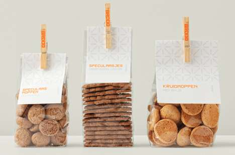 Laundry-Line Biscuit Branding - BBROOD Packaging Leaves Over-Designed Competitors Out to Dry