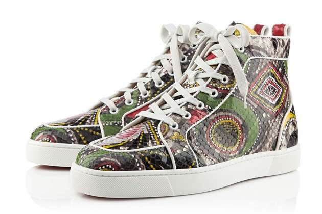Geometric Serpentine Sneakers