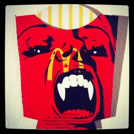 Iconic Fry Container Art - Ben Frost Uses Mcdonald's Fry Boxes as a Canvas for His Package Art
