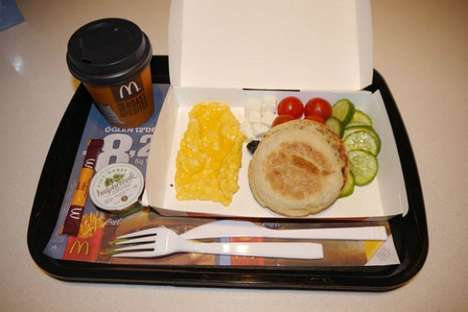 Healthful Fast Food Options - A McDonald's Menu Option in Turkey Includes Sliced Veggies and Feta