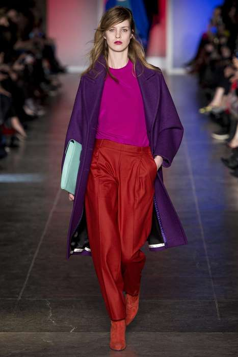 Slouchy Chromatic Couture - The Paul Smith Fall 2013 Collection is Full of Color and Shape
