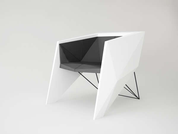Stealth Plane-Inspired Seating