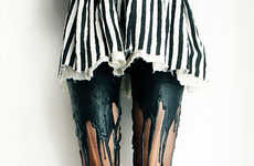 The URB Clothing Melting Tights are Made for Grunge Styles