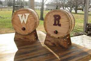 The Cedar Wine Barrel Dispensers Conceal Boxed Packaging