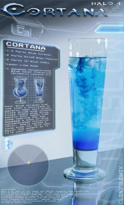 Legendary Video Game Booze - Clint Slowick Has Concocted a Variety of Halo Inspired Drinks