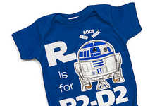 Sci-Fi Baby Onesies - This R2-D2 Baby Outfit Helps Little Ones Learn Their ABCs
