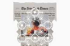 Perforated Newspaper Artworks