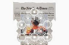 Perforated Newspaper Artworks